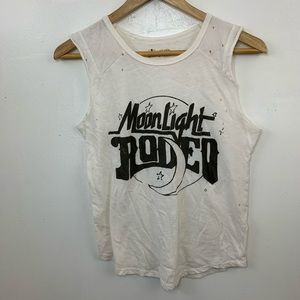 """Lucky Brand """" moonlight rodeo """" distressed tank"""